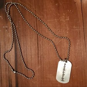 Jewelry - Sound wave dog tag necklace